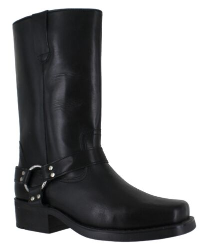 Mens Gringos Leather High Biker Riding Cowboy Western Boots Sizes 7 to 12