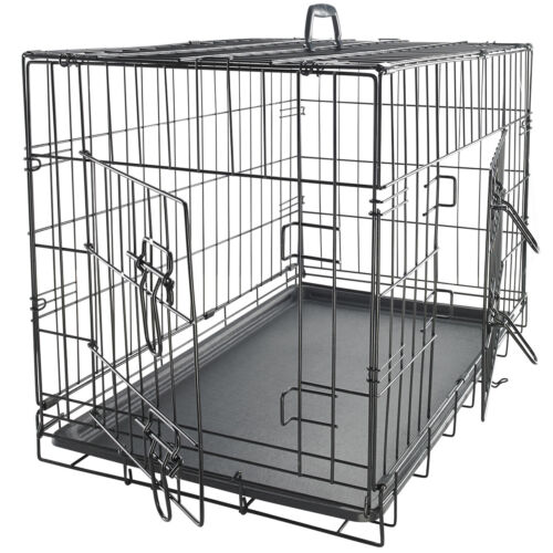 """48"""" Dog Crate Double Door w/Divider w/Tray Folding Heavy Duty Metal Pet Cage XXL <br/> #1 Rated~Brand Name~MSRP $229.95~New Model~100,000 Sold"""