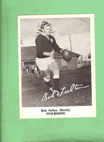 1967 Mirror Newspaper Rugby League Card - Bob Fulton, Manly