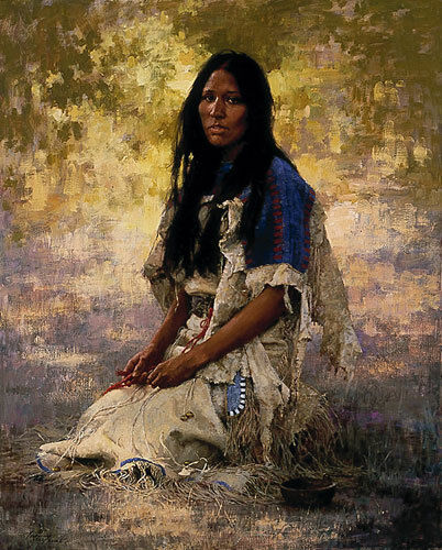 WOMAN OF THE SIOUX LIMITED EDITION PRINT BY HOWARD TERPNING