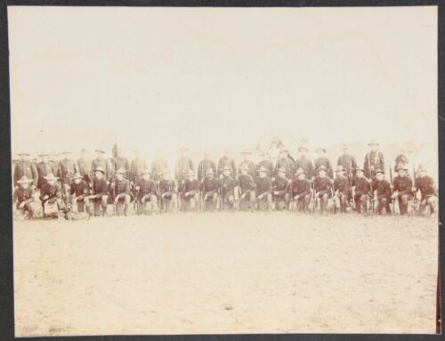 Large Format Photograph ~ Spanish American War Era Soldiers in Uniform c1890s