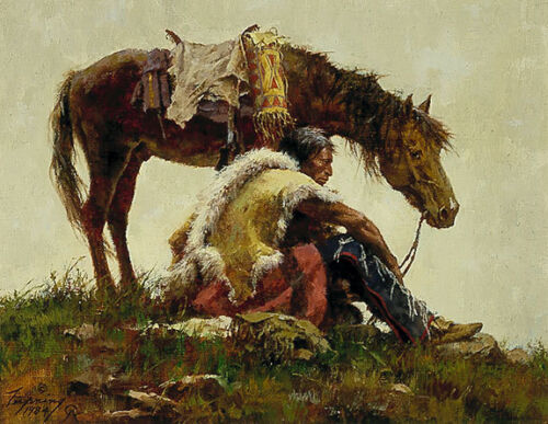 """""""WATCHING THE COLUMN""""  LIMITED EDITION PRINT BY HOWARD TERPNING"""