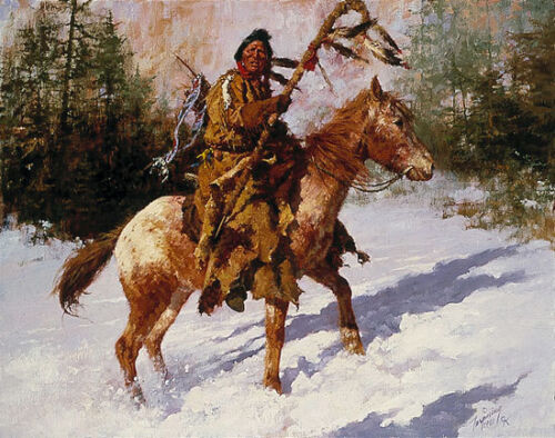 """""""WINTER COAT""""  LIMITED EDITION PRINT BY HOWARD TERPNING"""