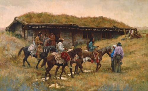 """""""TRADING POST AT CHADRON CREEK"""" LIMITED EDITION PRINT BY HOWARD TERPNING"""