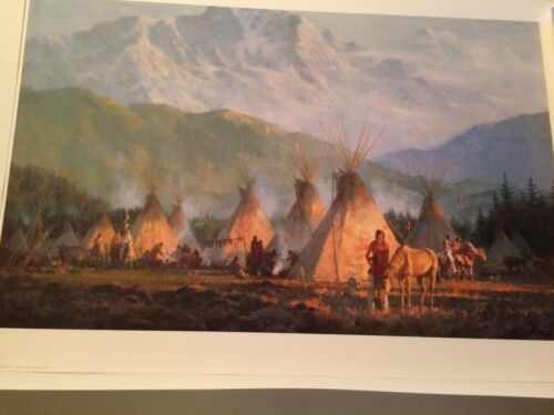 """""""CROW CAMP, 1864"""" LIMITED EDITION PRINT BY HOWARD TERPNING"""