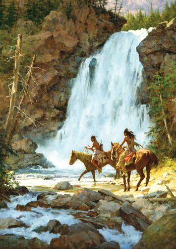 """""""CROSSING BELOW THE FALLS"""" LIMITED EDITION PRINT BY HOWARD TERPNING"""