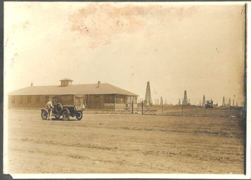 Photo of a Peoples Laundry Truck Parked at Wichita Oil Fields in Kansas c1910-20