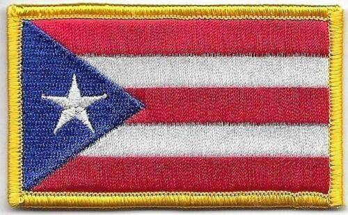 """2"""" x 3 1/4"""" Puerto Rico Left Arm Color Flag Patch VELCRO® BRAND Hook FastenerArmy - 48824"""