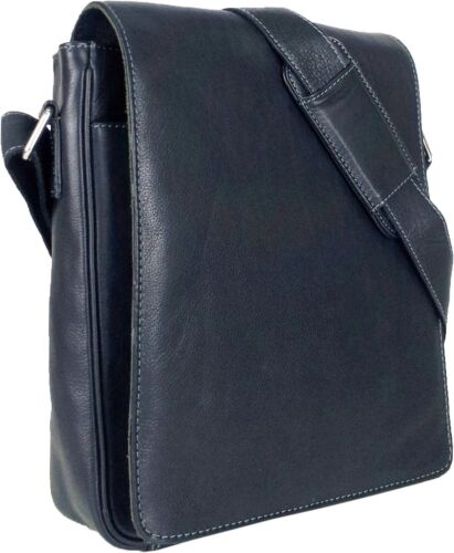 UNICORN Real Leather iPad, Kindle, Tablets & Accessories Messenger Bag Black #1E