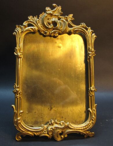 Fine Antique Gilt Metal Easel-Back Picture Frame #4 c. 1900  Gold Plated