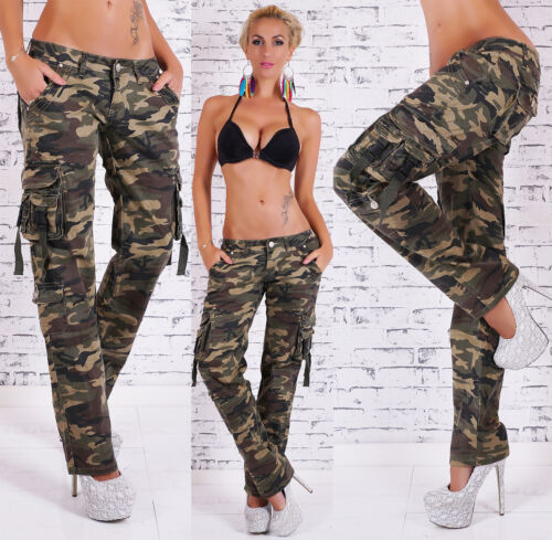 Women's Camouflage Hipster Cargo Pant  - XS / S / M / L / XL