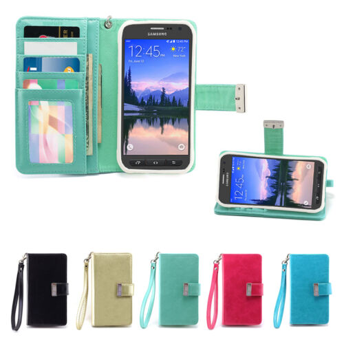IZENGATE Wallet Flip Case PU Leather Cover for Samsung Galaxy S6 ACTIVE