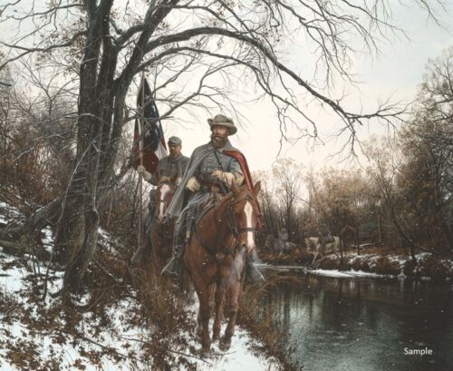 """""""To Fairfax for Christmas"""" by John Paul Strain Civil Military L/E signed Print"""