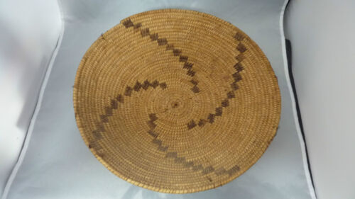 """Native American Basket * YOKUTS  tray   13"""" x 3 1/2 """" tall or  OLDER !"""