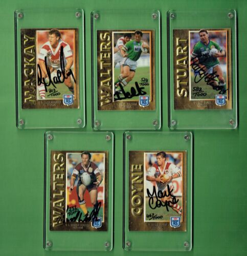 1994 SERIES 1 EMBOSSED GOLD FOIL SIGNATURE  RUGBY LEAGUE CARD SETRugby League (NRL) Cards - 25583