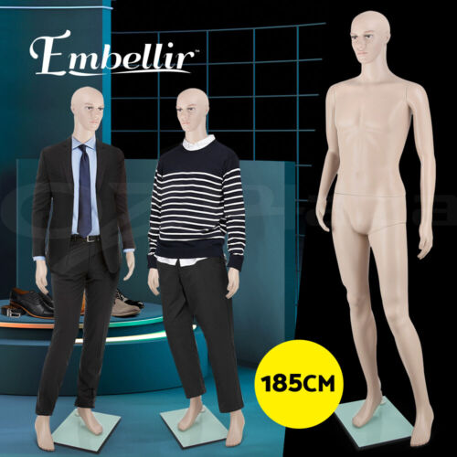 Embellir Male Mannequin Full Body 185cm Head Clothes Display Dressmaking Torso