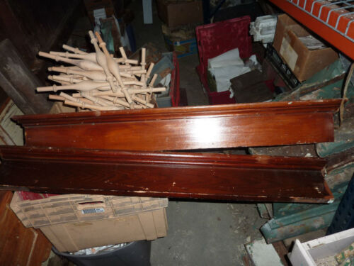 "2 VICTORIAN pine INTERIOR window DOOR header pediments orig VARNISH 46"" x 5/6"""