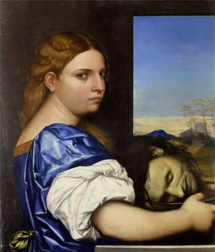 Oil painting Sebastiano del Piombo - The Daughter of Herodias free shipping cost