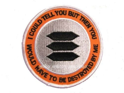 Black Ops Area 51 I Could Tell You Have To Be Destroyed Book Series Cover PatchOther Militaria - 135