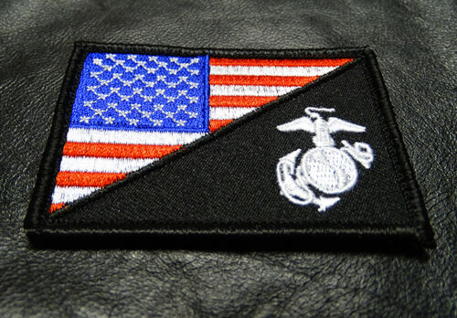 Usa Flag Marine Corps Usmc Hook Fastener Patch (red/wht) By Miltacusa