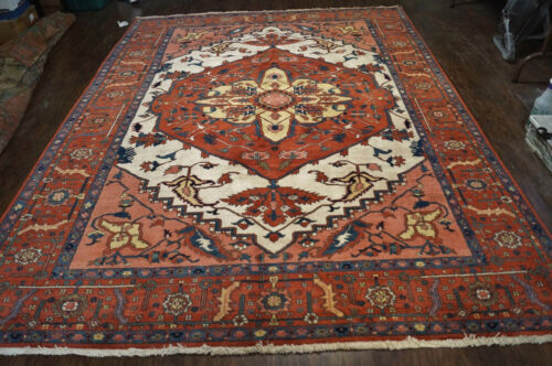 A BEAUTIFUL HAND WOVEN P.....N  SERAPI RUG 7x9FT