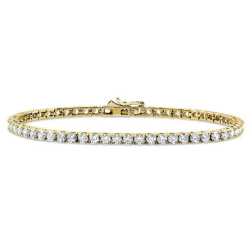 BERRICLE Gold Flashed 925 Silver Tennis Bracelet Made with Swarovski Zirconia