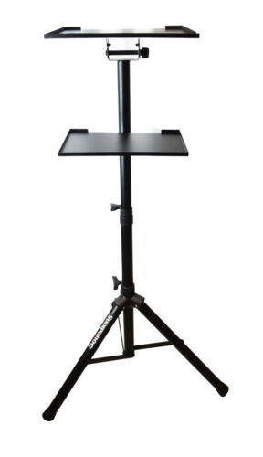Tripod Adjustable Workstation Stand with Tray For Notebook Computer Projector