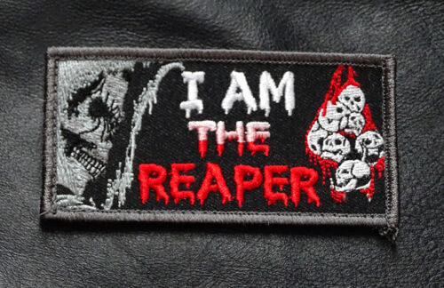 I AM THE REAPER TACTICAL COMBAT MORALE HOOK PATCHArmy - 48824