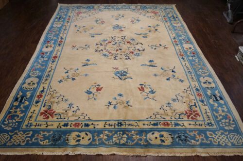 Antique   Hand Made Peking  Chinese Rug 6x9ft from Ca 1920