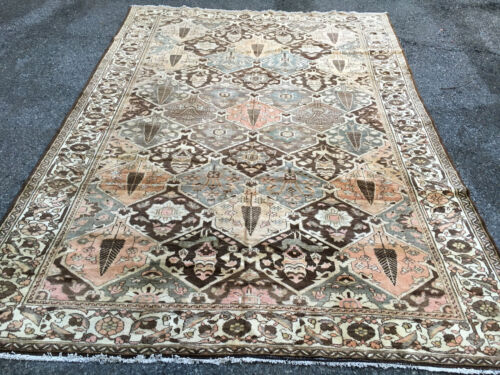 ANTIQUE A BEAUTIFU ANTIQUEL HAND WOVEN BAKHTIARy  RUG 7x10FT
