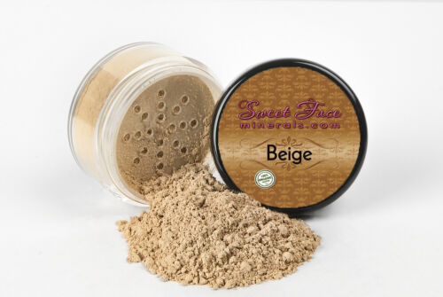 BEIGE FOUNDATION Mineral Makeup Matte Jar Bare Skin Sheer Natural Powder Cover