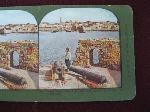Stereoview T Ingersoll Holy Land Series The Island In Bay Cannon Of Napoleon (O)