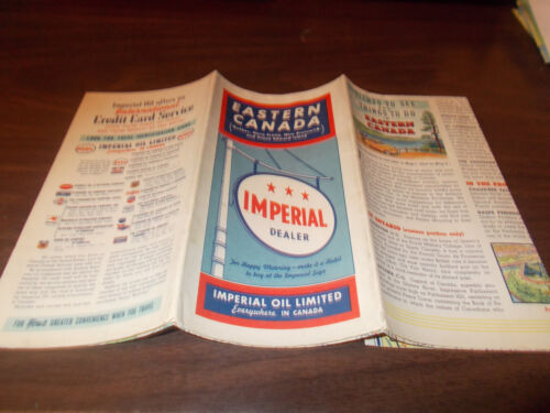 1940 Imperial Oil Eastern Canada Vintage Road Map