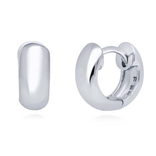 BERRICLE Sterling Silver Fashion Small Huggie Earrings 0.5""