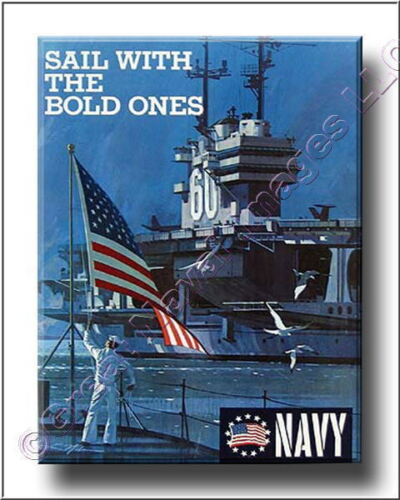 US Navy Recuiting Poster Sail with the Bold Ones Canvas Print 2DOther Militaria - 135