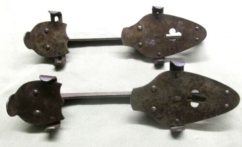 Antique Pair of ICE SKATES Marked Union Hardware Co. Torrington Connecticut 1890