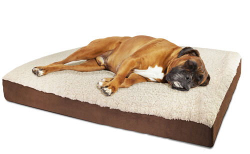 Orthopedic Dog Bed Pet Lounger Deluxe Cushion for Crate Foam Soft - Small
