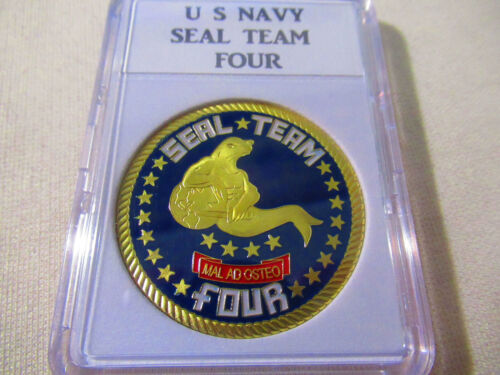 USN Navy Seals Seal Team 6 VI Trident NSW 50 Years Challenge Coin CPO Chief Mess