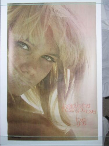 Vintage 1971 THOSE YOU LOVE Motivational Poster Photo by Ed Beaty Kersten Bros
