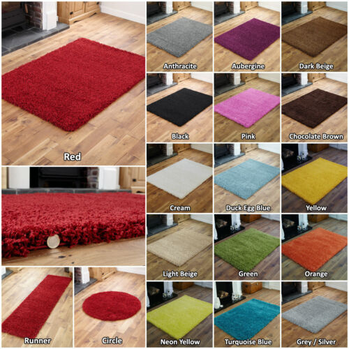 NON SLIP SHAGGY PLAIN NON-SHED LIVING ROOM BEDROOM HALLWAY RUG / ROUND / RUNNER <br/> LIMITED TIME OFFER SPECIAL DISCOUNT LOW COST PRICE SALE