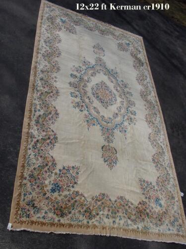 ANTIQUE HIGH KPSI LAVER RUG 12X22FT  ca1910
