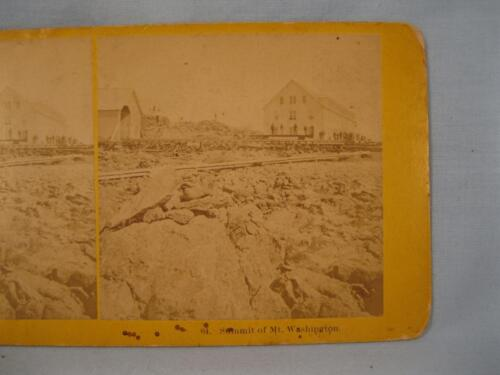 Stereoview Kilburn Brothers 64 The Summit Of Mount Washington New Hampshire (O)