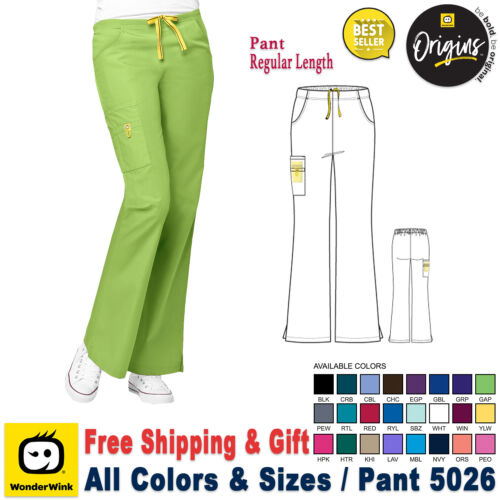 WonderWink Scrubs ORIGINS Women's Lady Fit Flare Leg Cargo Pant_Regular_XXS-5X