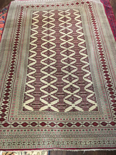 New Beautiful  Oriental  Afghan Rug 5x7ft