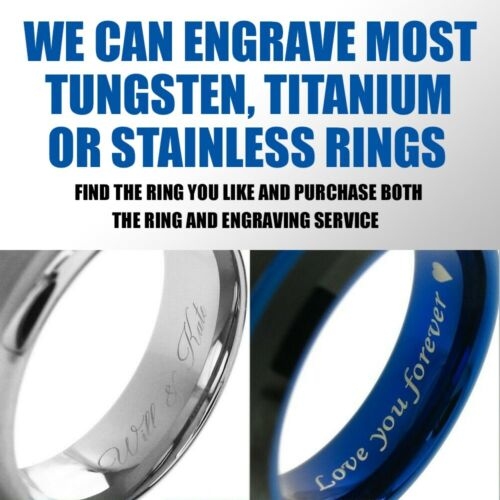 Laser Engraving Charge for Inside of Titanium Ring Tommyway