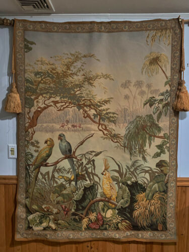 5x7ft French Tapestry  Wall Hanging Birds Garden Design