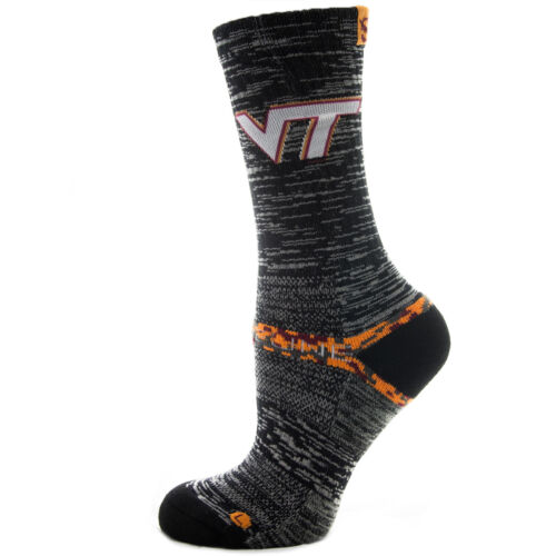 Strideline Athletic Socks  Virginia Tech Charcoal Heather 5700411 Strapped Men's