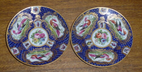 """Pair Of Antique 18th Century CHELSEA Porcelain Small Saucers / Dishes - 4 1/8"""""""