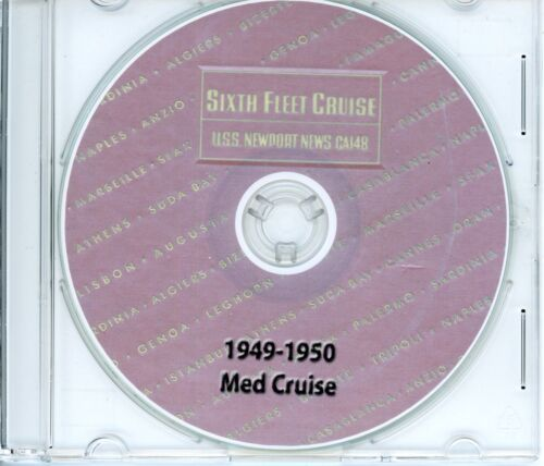 USS Newport News CA 148 1949 - 1950 Med Cruise Book on CDReproductions - 156472