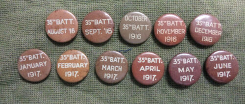 #D290. WWI NEWCASTLE 35th BATTALION  TIN BADGES - AUGUST 1916 to JUNE 1917